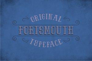 Portsmouth Vintage Label Typeface