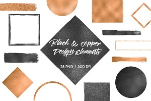 Black & copper design elements