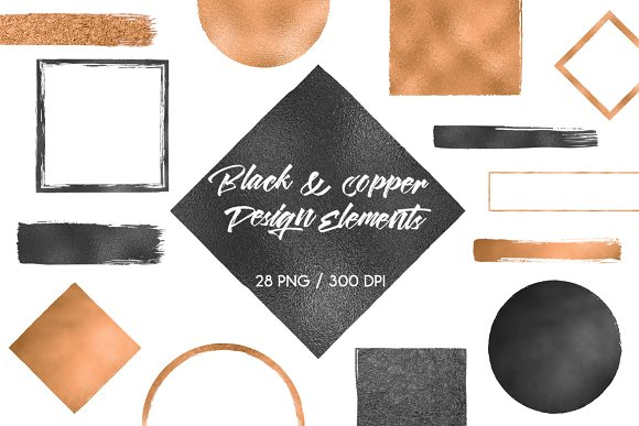 Black Copper Design Elements