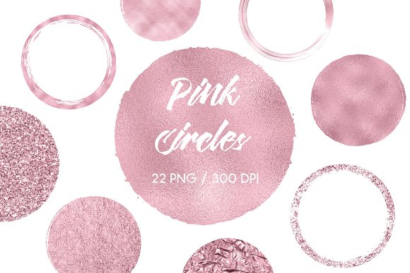 Pink Circles Clip Art