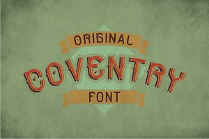 Coventry Vintage Label Typeface