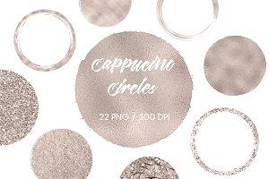 Cappucino Circles Clip Art