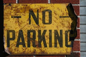 Old No Parking Sign