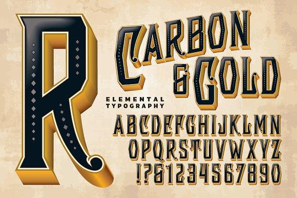 Lettering Design Carbon Gold