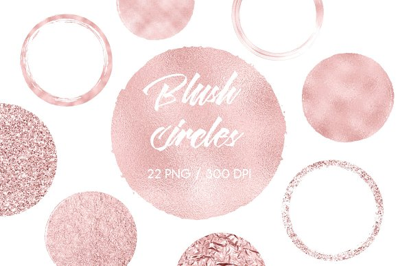 Blush Circles Clip Art