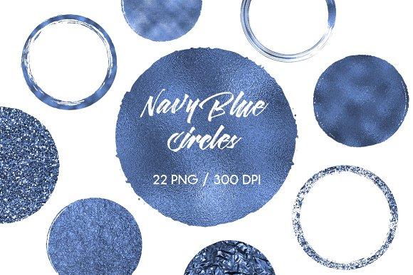 Navy Blue Circles Clip Art
