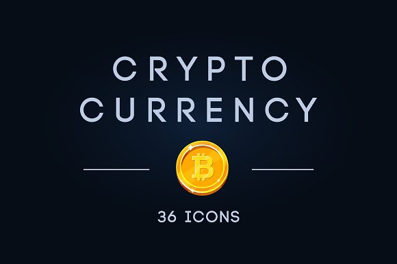 Set Of Cryptocurrency Coins