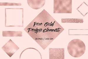 Rose Gold Design Elements