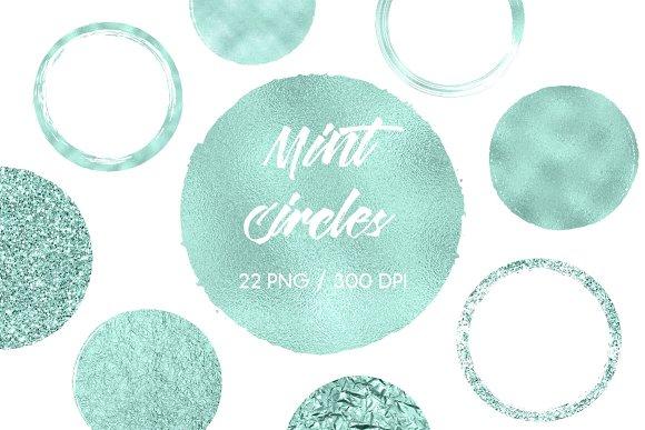 Mint Circles Clip Art