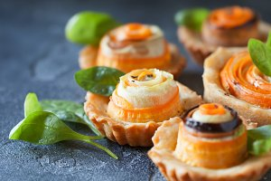 Vegerable mini quiches