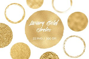 Luxury Gold Circles Clip Art