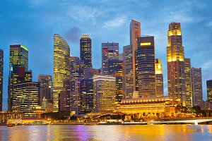 Beautiful Singapore at twilight