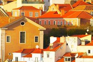 Lisbon Alfama architecture, Portugal