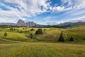 Beautiful Dolomites mountains