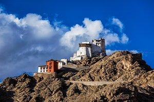 Namgyal Tsem gompa and fort. Leh, Ladakh