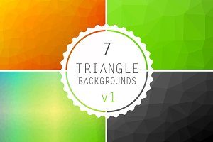 Geometric Triangle Backgrounds #1