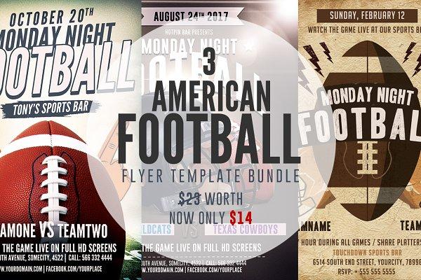 American Football Flyer Bundle