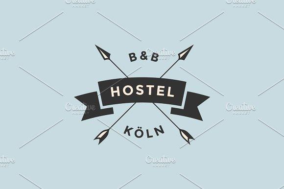 Emblem Of Hostel With Arrows