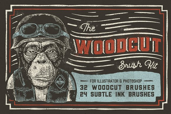 The Woodcut Brush Kit-Graphicriver中文最全的素材分享平台