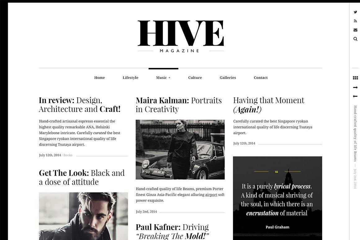 HIVE - A Magazine-Style Theme ~ WordPress Magazine Themes ~ Creative ...