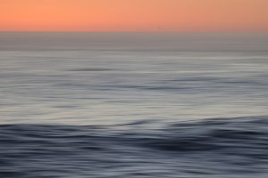 Misty Sunset Ocean