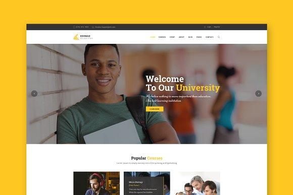 Edumax Education HTML Template