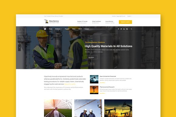Manufactory HTML Template