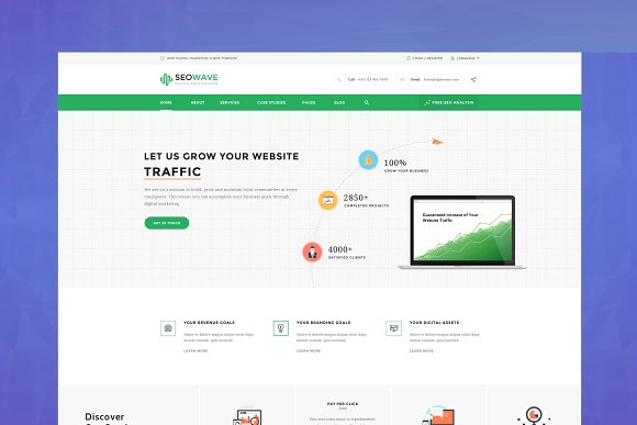 Seo Wave Marketing HTML Template