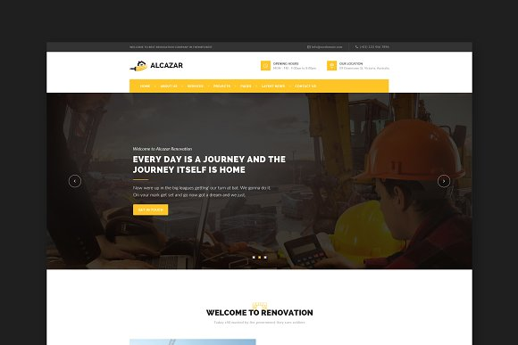 Alcazar Construction HTML Template