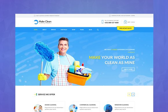 Make Clean Cleaning HTML Template
