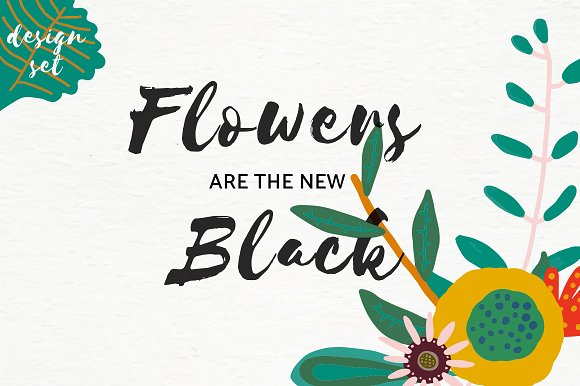 Flowers Are The New Black
