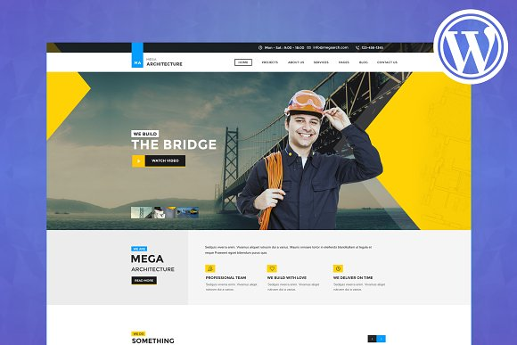 Mega Architecture WordPress Theme