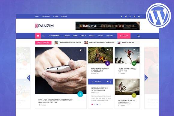 Ranzim Magazine WordPress Theme