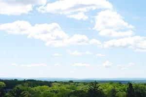 Bright Landscape Clouds Blue Sky