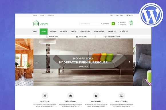 Furniture ECommerce WordPress Theme