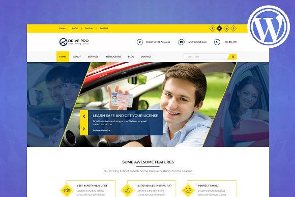 Driving School WordPress Theme