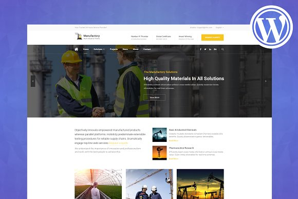 Manufactory Industrial WP Theme