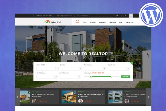 Realtor- Real Estate WordPress Them