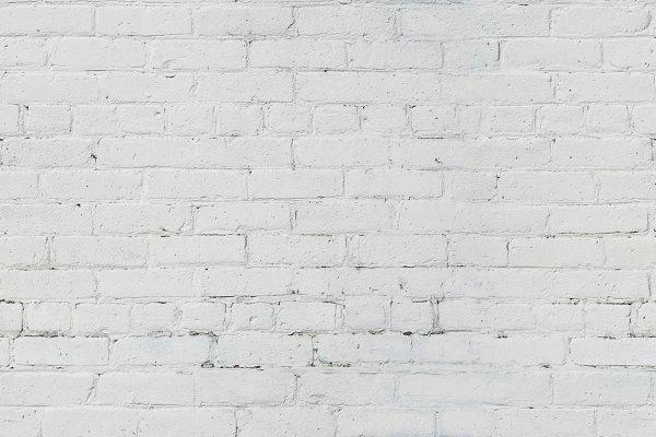 Seamless White Brick Wall Backgroun…