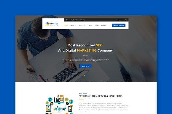 Max Seo Marketing HTML Template