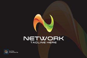Network / Letter N - Logo Template