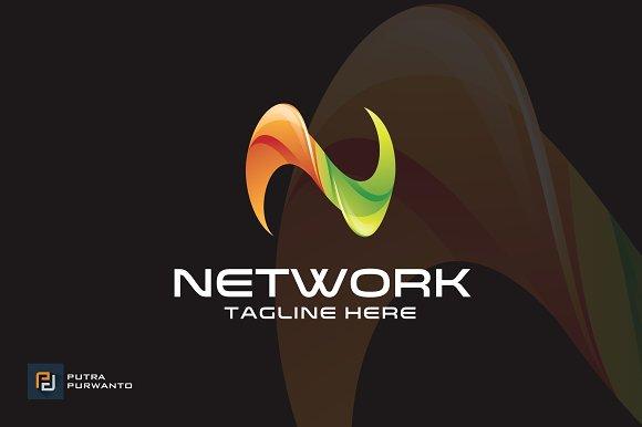 network letter n logo template logo templates creative market