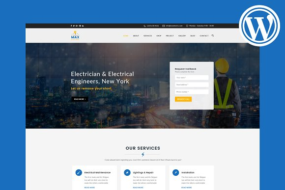 Max Electric WordPress Theme