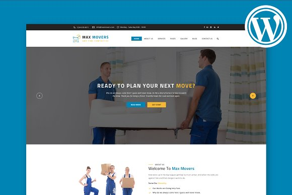 Max Movers WordPress Theme