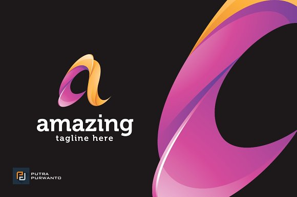 Amazing Letter A Logo Template