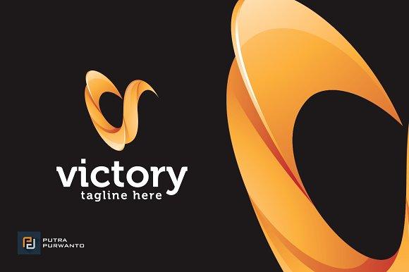 Victory Letter V Logo Template