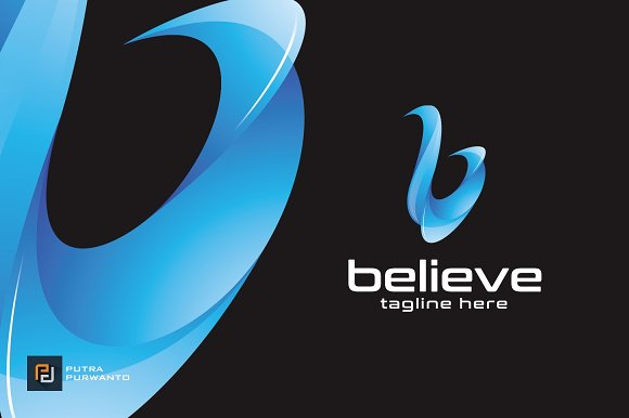Believe B Logo Template