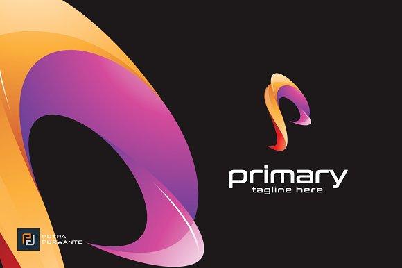 Primary P Logo Template