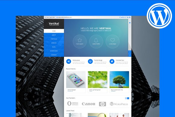 Vertical Menu WordPress Theme