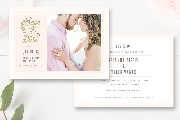 Save The Date PSD Template